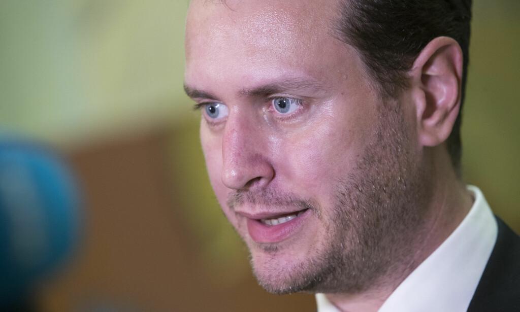 HAR VISST: Frp's Helge André Njåstad og organisasjonsutvalget i partiet mener det er naturlig at ungdomsorganisasjonen har fått håndtere sakene selv. Foto: Håkon Mosvold Larsen / NTB scanpix