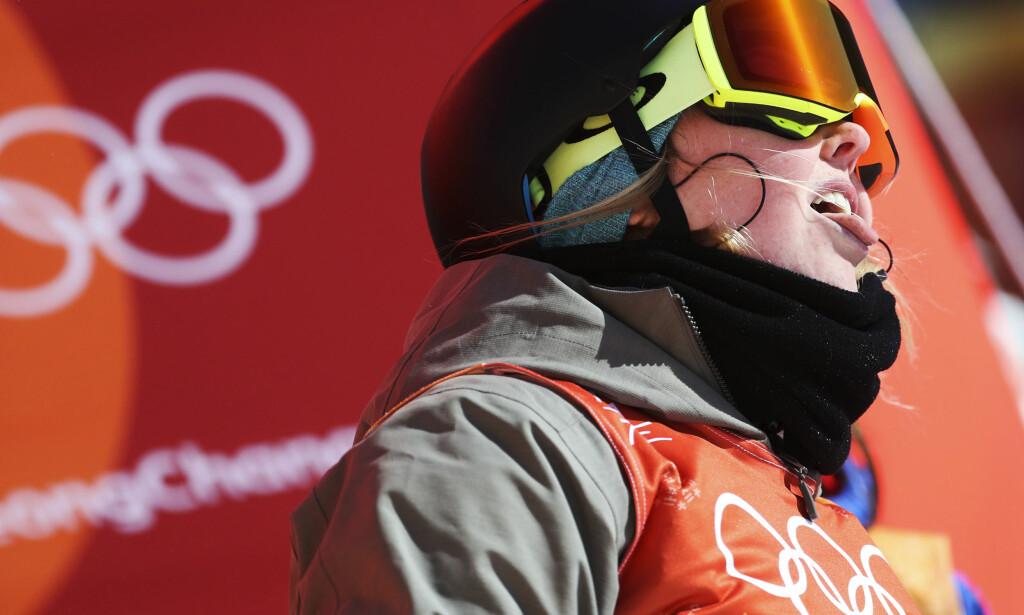 """SKUFFET: Johanne Killi havnet """"bare"""" på en femteplass i slopestyle-finalen natt til lørdag. Foto: Andreas Hillergren/TT"""