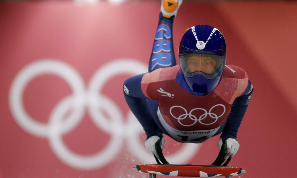 GULL: Lizzy Yarnold tok Storbritannias første OL-gull i Pyeongchang. Foto: Wong Maye-e/AP