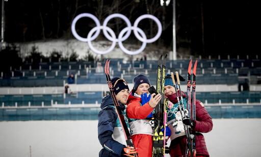 TILBAKE: Aleksander Bolsjunov vant bronse på OL-sprinten, men har stått over de øvrige distansene. Nå er han tilbake til stafetten. Både han og Aleksej Tsjervotkin er friskmeldt og klar til dyst. Foto: Bjørn Langsem / Dagbladet