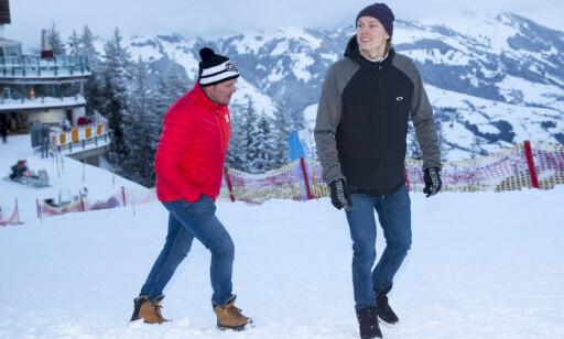 VIKTIG BRIKKE: Henrik hyller pappa Lars Kristoffersen for rollen han spilte i de kritiske timene. Her er de sammen i Kitzbühel tidligere i år. Foto: NTB Scanpix