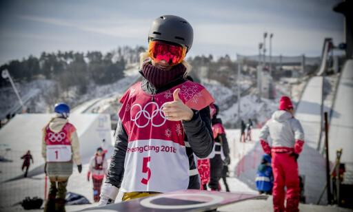 LETTET: Silje Norendal var lettet over at hun kom til finalen i Big Air, tross svakere hopping enn normalt. Foto: Bjørn Langsem