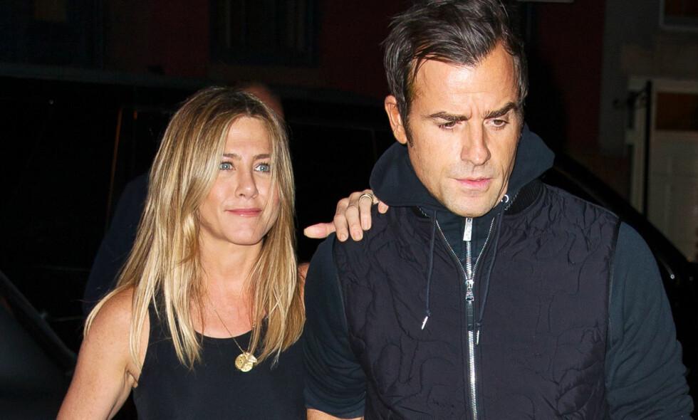 FINNER INGEN PAPIRER: Det er en mulighet for at eksparet Jennifer Aniston og Justin Theroux aldri var gift. Foto: NTB Scanpix