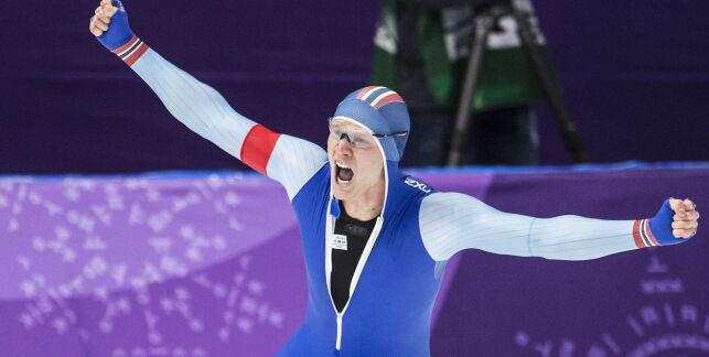 20180219 GANGNEUNG PYEONGCHANG  Håvard Lorentzen olympisk mester på 500m under OL i Sør Korea.   Foto: Hans Arne Vedlog / Dagbladet