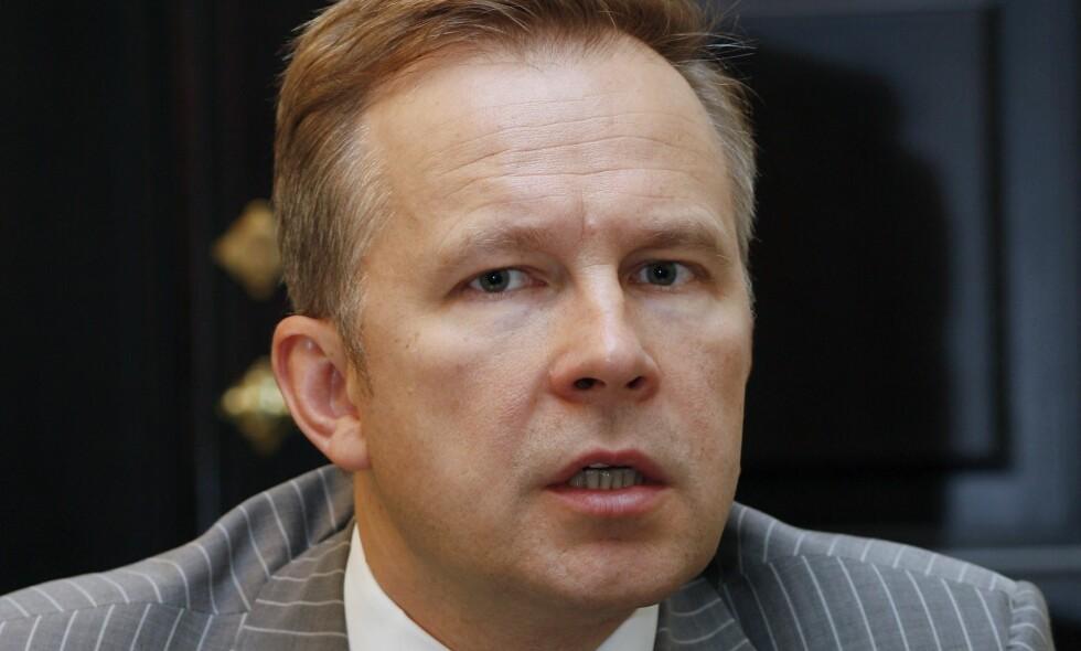 KORRUPSJONS-MISTENKT: Ilmars Rimsevics, latvias sentralbanksjef ble arrestert, mistenkt for korrupsjon på søndag. Foto: Roman Koksarov / AP / NTB scanpix
