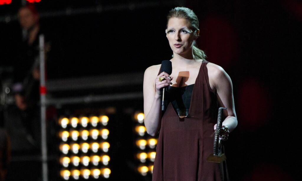 Prisvinner i 2011: Susanne Sundfør med pris i kategorien populærkomponist under Spellemannprisen 2010. Foto: NTB scanpix