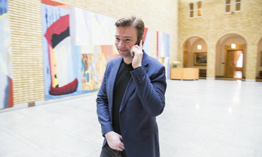 BADEROMSANALOGI: Henrik Asheim sammenlikner byggesprekken på Stortinget med en ubehagelig regning etter man har pusset opp badet. Foto: Vidar Ruud / NTB scanpix