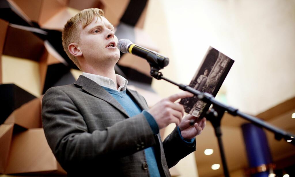 Forfattaren: Eit romanutdrag av Erlend O. Nødtvedt har blitt til tekst på Spellemann-nominerte «Åra». Foto: Kyrre Lien / NTB scanpix