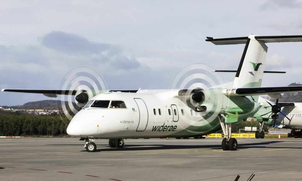 KUTTER: Flyselskapet Widerøe kutter 44 ukentlige flygninger i Lofoten og Vesterålen som følge av markedsutviklingen og dårligere rammebetingelser. Foto: Gorm Kallestad / NTB scanpix