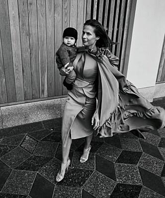 MAMMA: Sønnen Arthur Elias fyller ett år i slutten av mars. I tillegg til ham har Andrea Rudolph to barn og to bonusbarn.