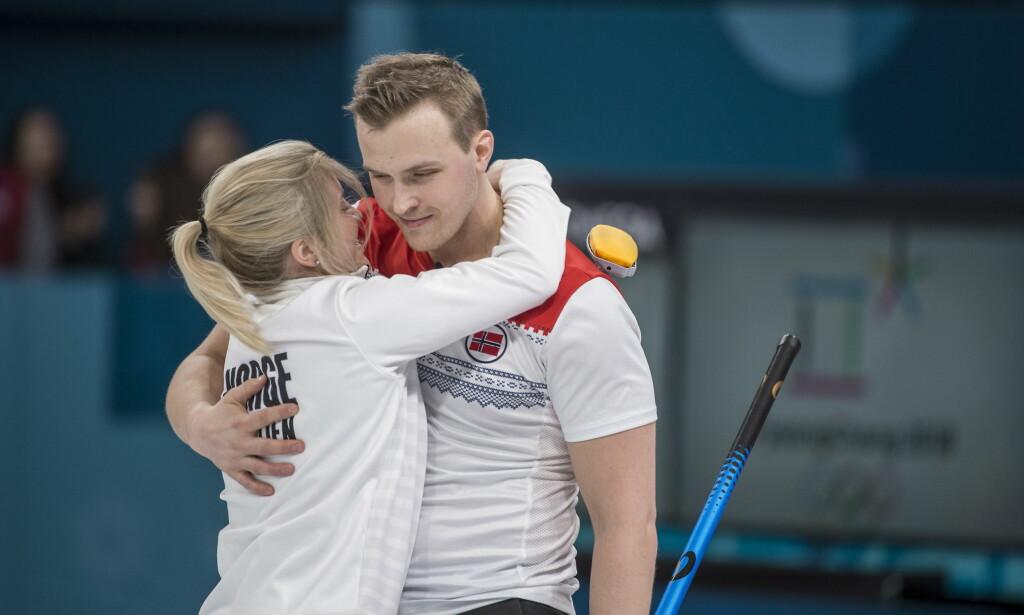 FÅR MEDALJE: Magnus Nedregotten og Kristin Skaslien. Foto: Hans Arn Vedlog / Dagbladet