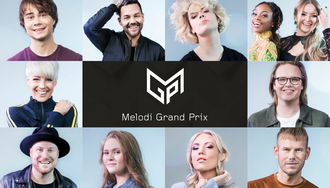 KONKURRENTENE: Alejandro Fuentes møter 9 andre finalister når den norske finalen går av stabelen i Oslo Spektrum lørdag 10. mars. Foto: NRK
