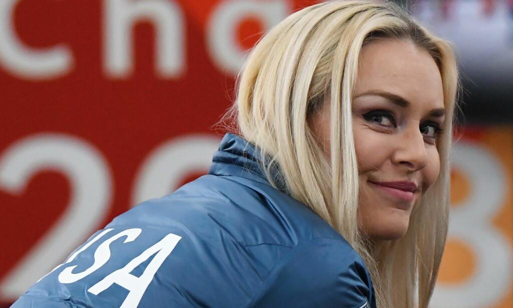 JAGER REKORDEN: Lindsey Vonn har 81 verdenscupseirer i karrieren, fem bak rekorden til Ingemar Stenmark. Trolig vi hun fortsette til hun har tatt igjen den svenske alpinlegenden. Foto: Franck Fife / AFP / NTB Scanpix