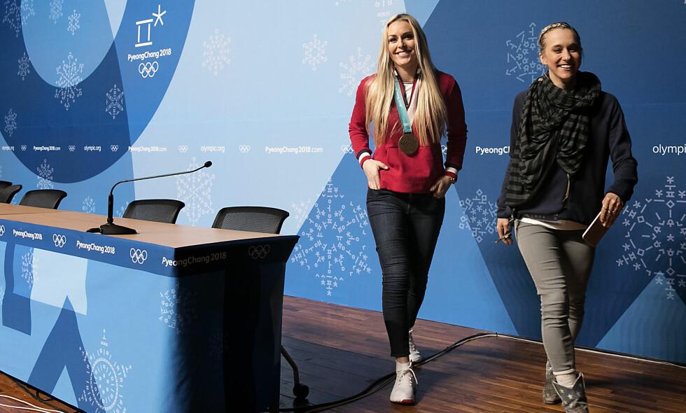 GIR SEG IKKE: Lindsey Vonn reiser fra OL med en bronsemedalje. Nå starter hun jakten på Ingemar Stenmark, og drømmer fortsatt om å få konkurrere mot gutta. Foto: Bjørn Langsem