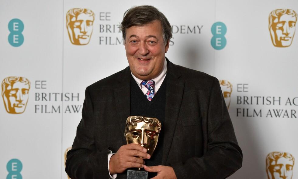 ÅPENHEJRTIG: Tv-profil og forfatter Stephen Fry avslører at han er rammet av prostatakreft. Foto: NTB scanpix