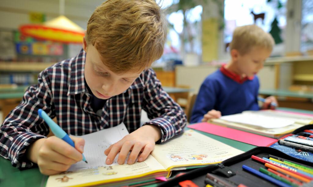 SKOLE: - Det er liten grunn til å hevde at sorteringen inn i utdannings- og yrkeslivet er basert på genetiske forskjeller i overveiende og økende grad, skriver artikkelforfatteren. Foto: Frank May / NTB scanpix