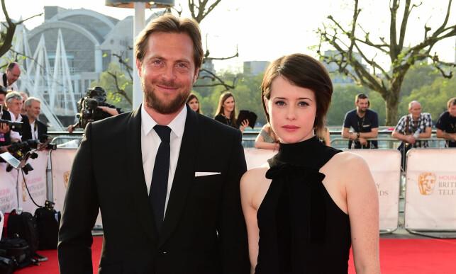 BRUDD: Claire Foy og Stephen Campbell møttes for første gang under filminnspilling. Foto: NTB Scanpix