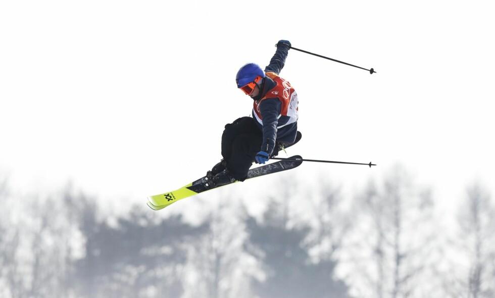 GULLVINNER: Øystein Bråten i aksjon da han tok OL-gull i friski slopestyle forrige søndag.   Foto: Erik Johansen / NTB scanpix
