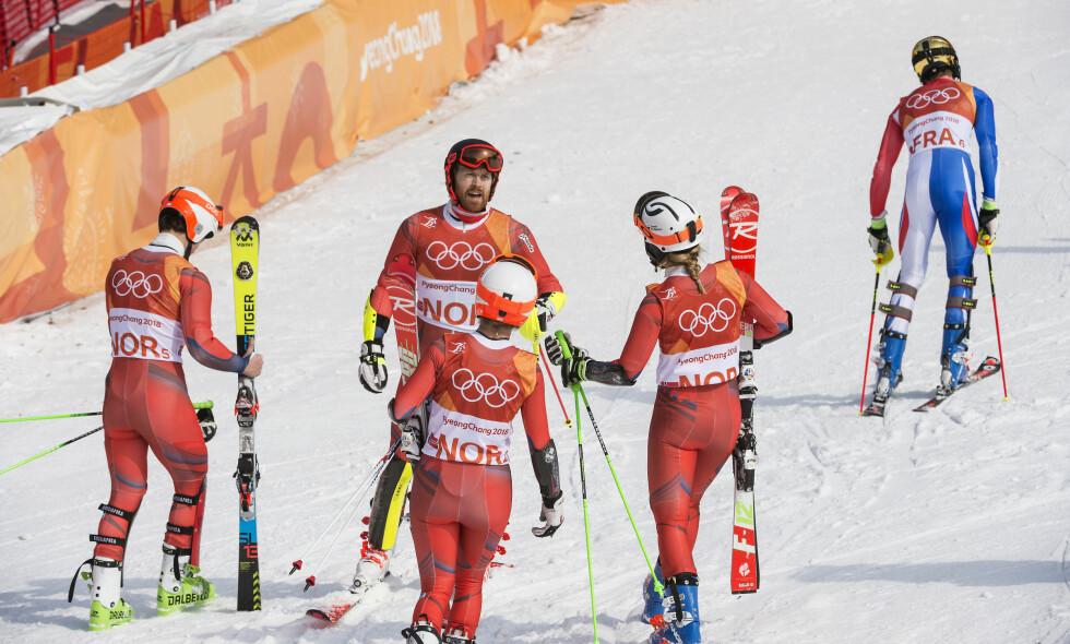 DRAMATISK: Norge vant på tiebreak mot Frankrike i bronsefinalen. Foto: Hans Arne Vedlog / Dagbladet.