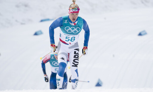 UHELDIG: Magnus Kims høyre skisko ble ødelagt under femmila. Det skapte mye frustrasjon. Foto: Bjørn Langsem / Dagbladet