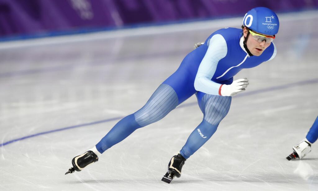 RØK I SEMIFINALEN: Sverre Lunde Pedersen sanket to poeng, men det var ikke nok til å gå til finale. Foto: NTB Scanpix