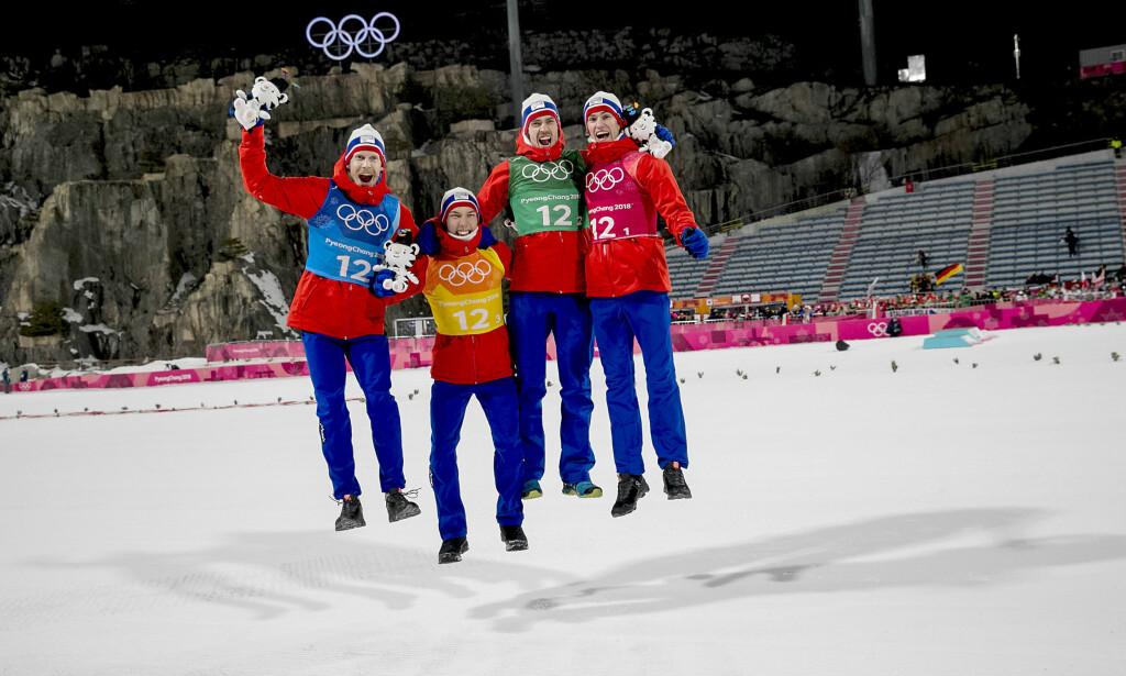 LAGGULL: Hoppgutta vant lagkonkurransen. Foto: Bjørn Langsem/Dagbladet