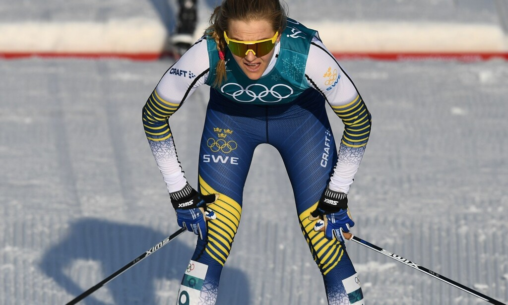 VANT SPURTEN: Stina Nilsson. Foto: AFP PHOTO / FRANCK FIFE