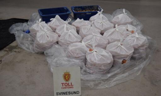 ORGANISERT: En sushi-wok-restaurant var målet for smuglernes biltur til Norge. Foto: Svinesund tollstasjon