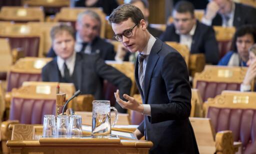 VIL IKKE BINDE SEG: Tore Storehaug (KrF) vil ikke forplikte seg til utfasing av plast til 2022. Foto: Vidar Ruud / NTB scanpix