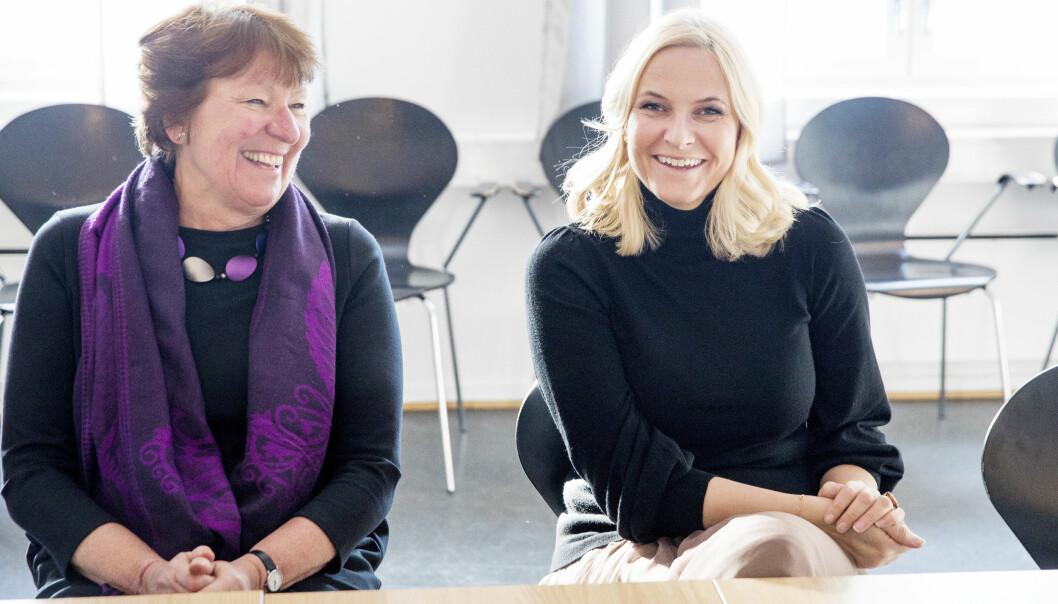 DAGSORDEN: Kronprinsessen og Oslo-ordfører Marianne Borgen (SV) var begge svært engasjerte i samtalene med Sex og samfunn om ungdommers seksuelle helse den siste mandagen i februar. Foto: Tore Meek // NTB Scanpix