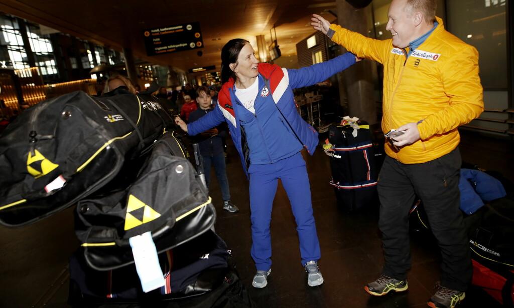 TILBAKE PÅ NORSK JORD: Marit Bjørgen er tilbake på norsk jord etter OL i Sør-Korea. Foto: Anita Arntzen / Dagbladet