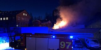 image: Kraftig brann i trebygg i Oslo