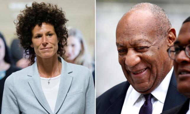 LANGET UT MOT BILL COSBY: Andrea Constand beskrev i detalj hva som skjedde da hun skal ha oppdaget at hun var blitt seksuelt misbrukt av Bill Cosby. Her er de begge to fotografert på vei til retten i sommer. Foto: NTB Scanpix.