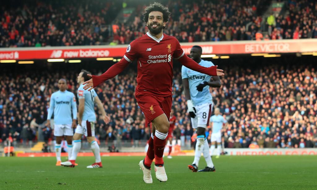 LIVERPOOLS TOPPSCORER: Mohamed Salah har scoret 23 mål i ligaen denne sesongen. Foto: NTB Scanpix