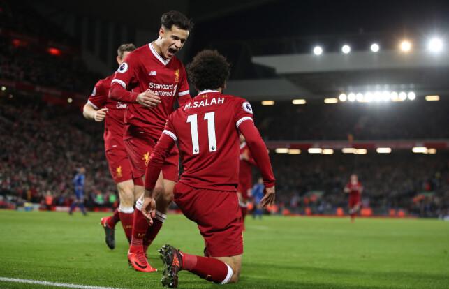 NY FAVORITT: Salah gjør salget av Philippe Coutinho litt lettere å svelge for Liverpool-fansen. Foto: Lynne Cameron/Sportimage via PA Images/NTB Scanpix
