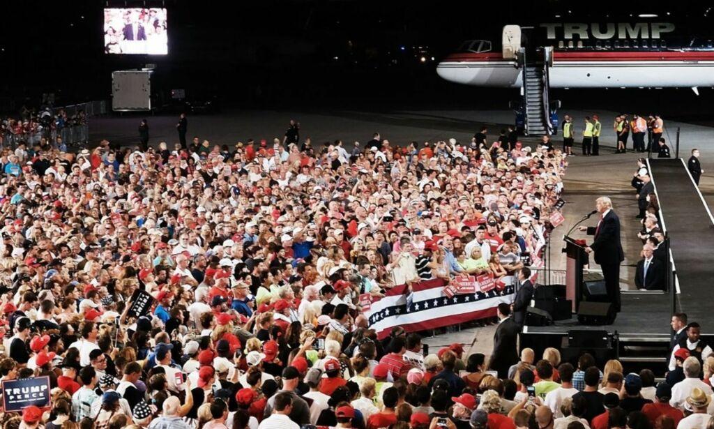 image: Trump starter kampen for gjenvalg i 2020