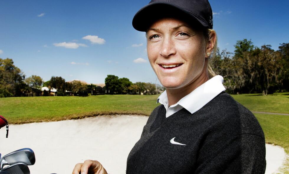GRAVID: Golfproffen Suzann «Tutta» Pettersen (32) og Christian Ringvold i Florida Foto: Agnete Brun / Dagbladet