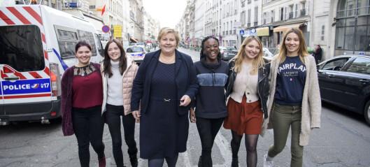 Erna møtte de franske «Skam»-jentene: - Vi har fått de mest utrolige kommentarene