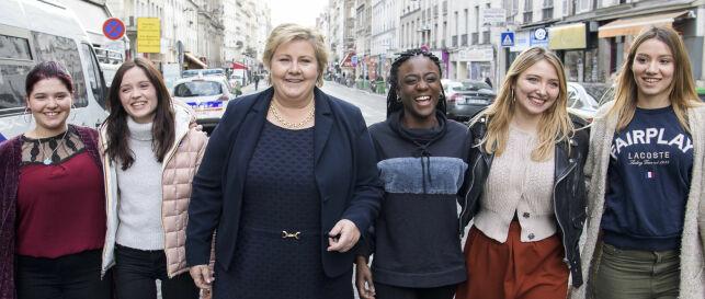 image: Erna møtte de franske «Skam»-jentene