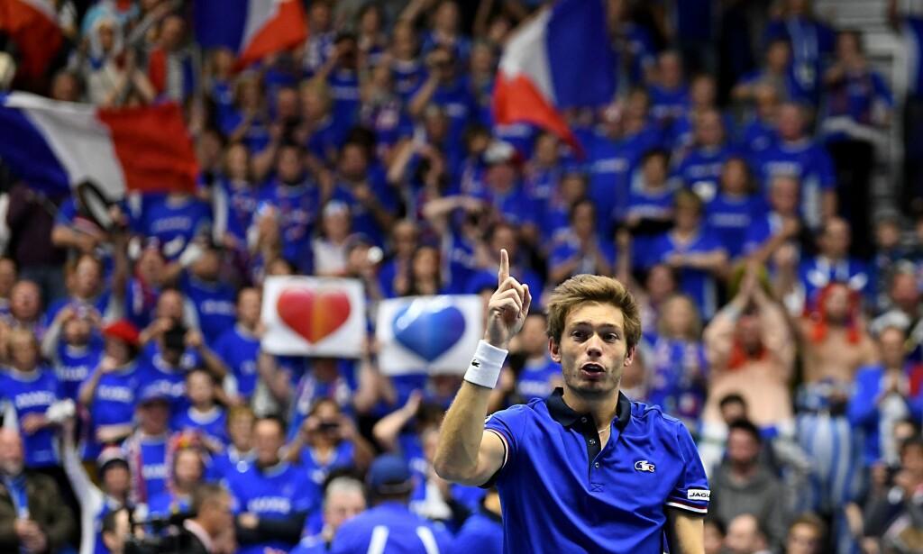 FRUSTRERT: Den franske tennisprofilen Nicolas Mahut er ikke begeistret for ITFs planer. Foto: AFP PHOTO / JEAN-PIERRE CLATOT / NTB Scanpix