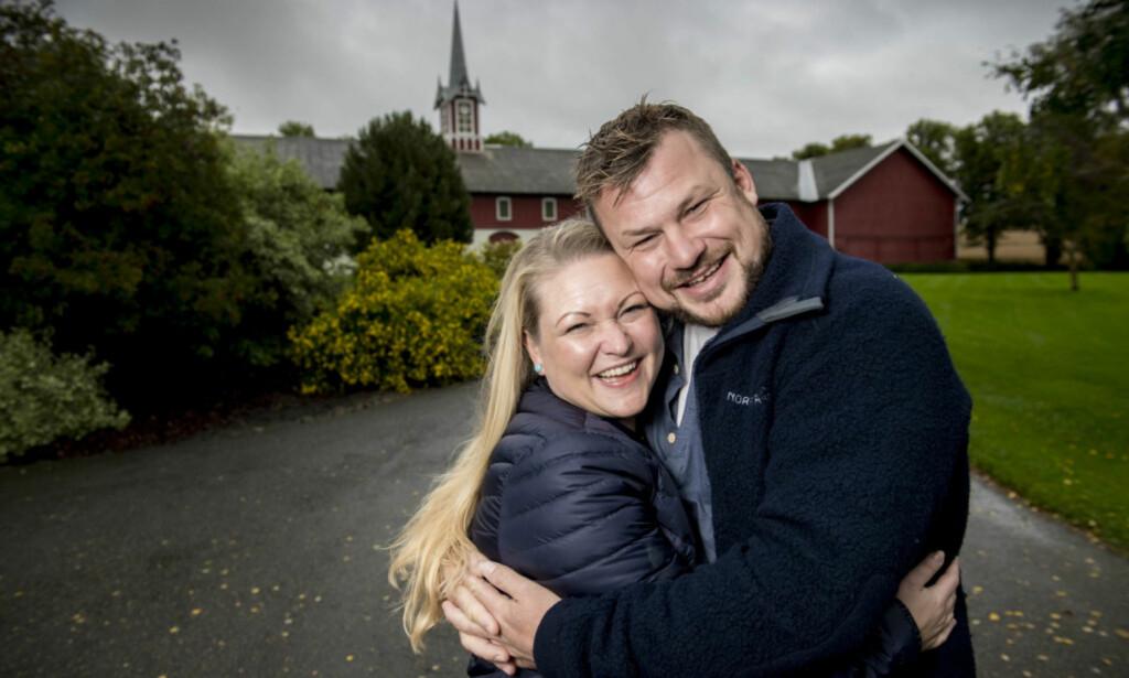 FORLOVET: Maria Bjørndal og Erik Grytnes fant kjærligheten i TV 2- programmet «Jakten på Kærligheten». Nå er paret forlovet. Foto: Lars Eivind Bones/ Dagbladet