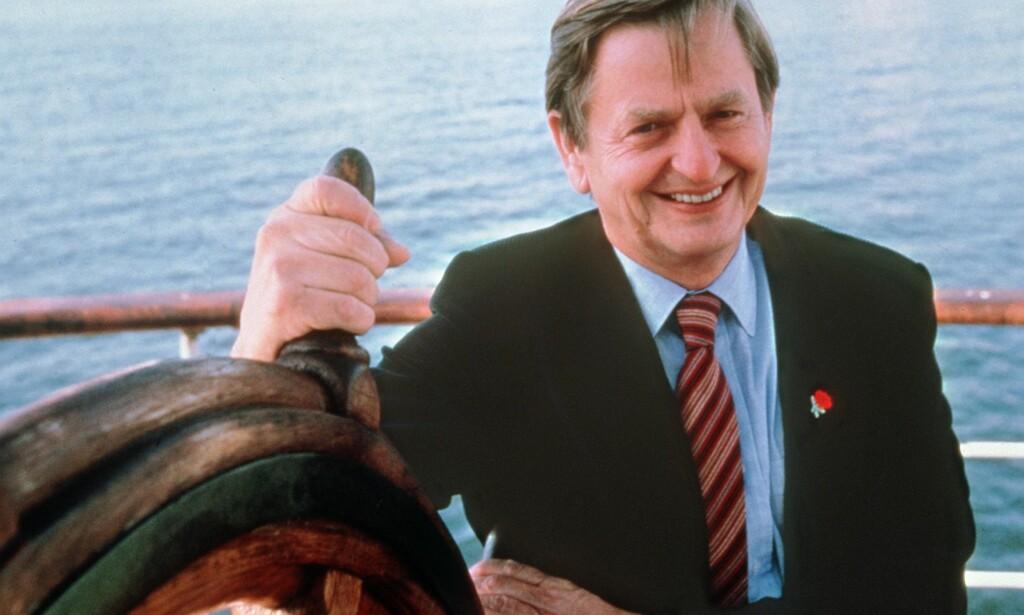 DREPT: 32 år etter han ble drept, er drapet på Olof Palme fremdeles ikke oppklart. Men etterforskningslederen er overbevist om at det blir det.Foto: AFP PHOTO / NTB scanpix