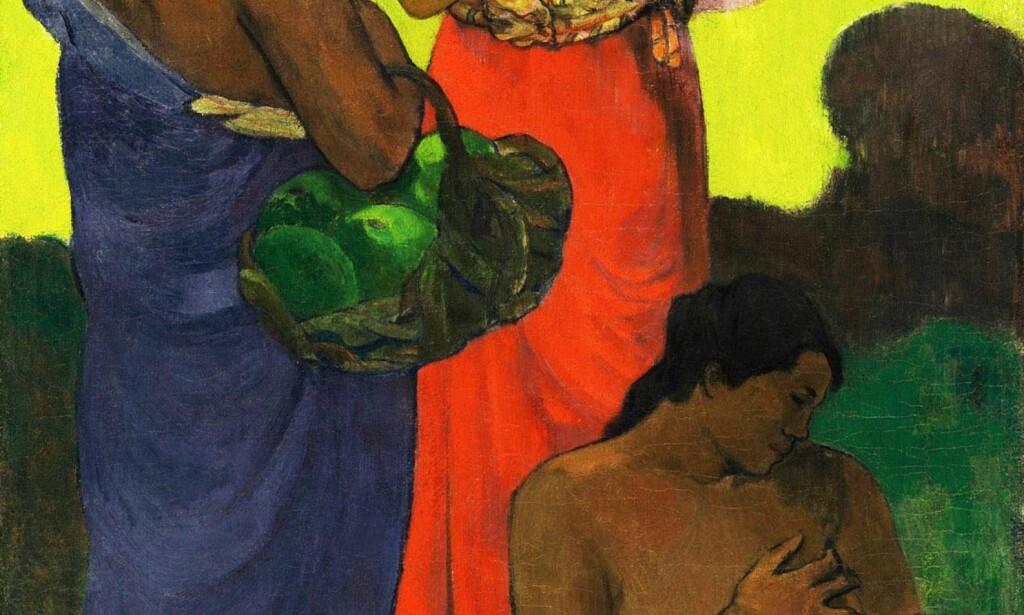 OMDISKUTERT: Bildene den innflytelsesrike kunstneren Paul Gauguin malte på Tahiti er omdiskuterte på grunn av måten de skildrer øyrikets kvinner på. Blant dem er unge tenåringer kunstneren hadde seksuelle forhold til. Foto: Scanpix.