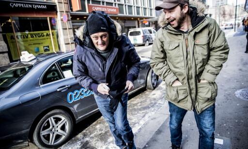 «Petter uteligger»s triks: Petter Nyquist forteller at han ble sittende mye på Oslo S da han bodde på gata i forbindelse med TV-programmet sitt. Christer Modin, kjent fra «Petter uteligger», inviterer kompiser til overnatting på ekstra kalde dager. Foto: Christian Roth Christensen / Dagbladet