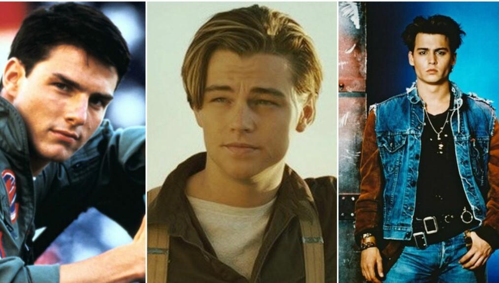 MENN FRA 90-TALLET: Sukk! Disse tre kjekkasene hadde mange kvinnelige fans på 90-tallet. FOTO: Top Gun / Titanic / 21 Jump Street