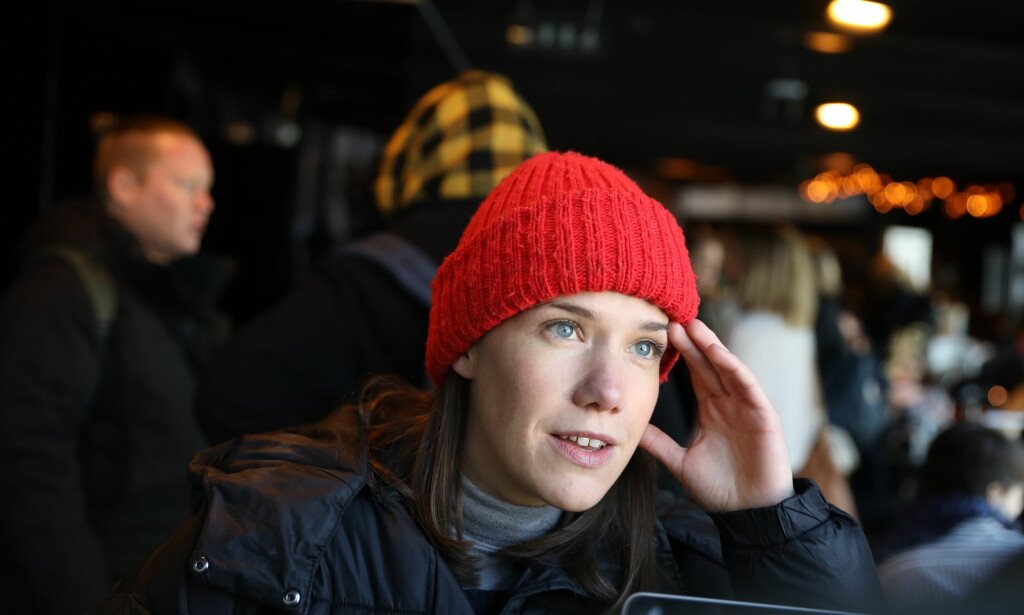 I PUBLIKUM: Artist Kaja Gunnufsen savnet temperatur. Foto: Christian Roth Christensen / Dagbladet