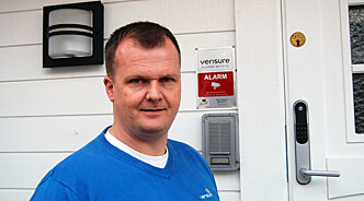 Sikkerhetsekspert Kenneth Hovde Omdal, er bekymret for nordmenns manglende evne til å brannsikre boligen. Foto: Verisure