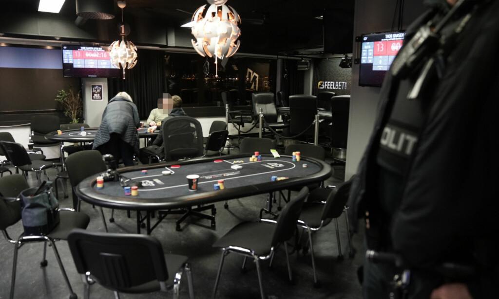 POKERKLUBB: Pokerklubben Norwegian Poker Team i Sinsenveien var en av fem klubber som fikk besøk av politiet torsdag kveld. Foto: Øistein Norum Monsen / Dagbladet