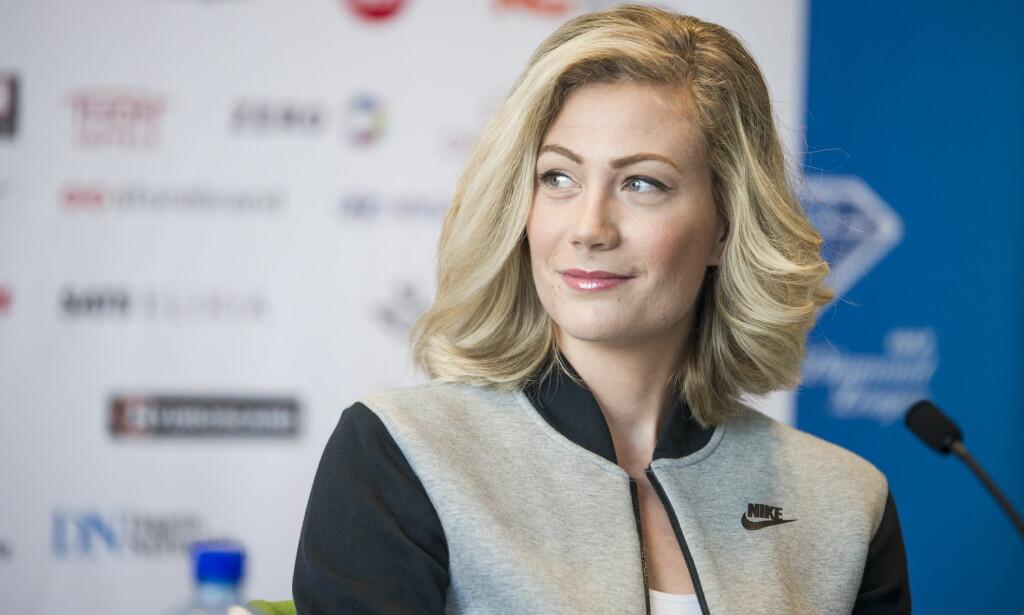 SELVSIKKER: Isabelle Pedersen har god selvtillit før innendørs-VM denne helga. Foto: Andreas Lekang