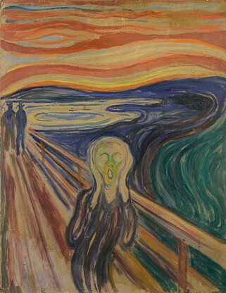 ANXIETY: The first versions of «The Scream» looked completely different from the iconic painting. PHOTO: The Munch Museum